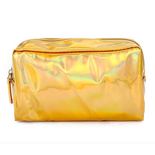 MOPOLIS Travel Cosmetic Bag Mermaid Sequin Makeup Pouch Wash Organizer Storage Purse   Colour - #4 Holographic Laser - Gold