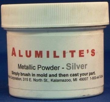 Alumilite silver metallic powder, 1 oz (Powder Silver)