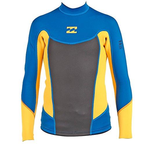 Billabong Boys' Foil 2Mm Flatlock Long Sleeve Jacket Blue 16 (Billabong Kids Jacket)