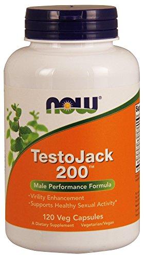 Now Foods Testo Jack 200 Extra Strength Veg Capsules, 120 Co