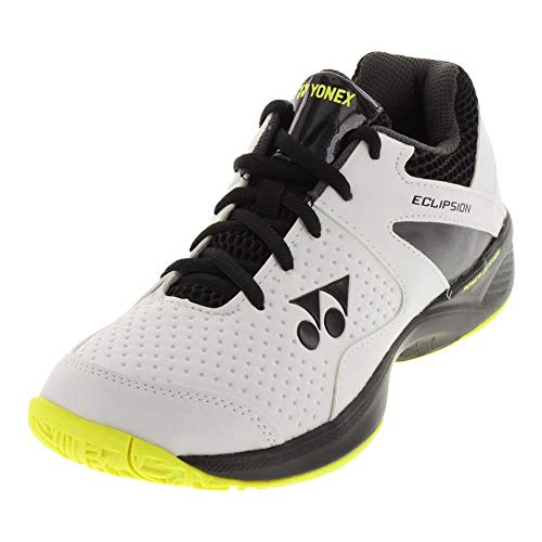 9ddfa36e8d9 Amazon.com | Yonex-Juniors` Power Cushion Eclipsion 2 Tennis Shoes White  and Lime-(0082352877 | Tennis & Racquet Sports