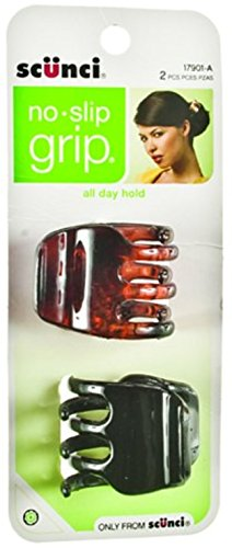 Scunci No-slip Grip Chunky Jaw Clips, 3.5cm, 2-Count