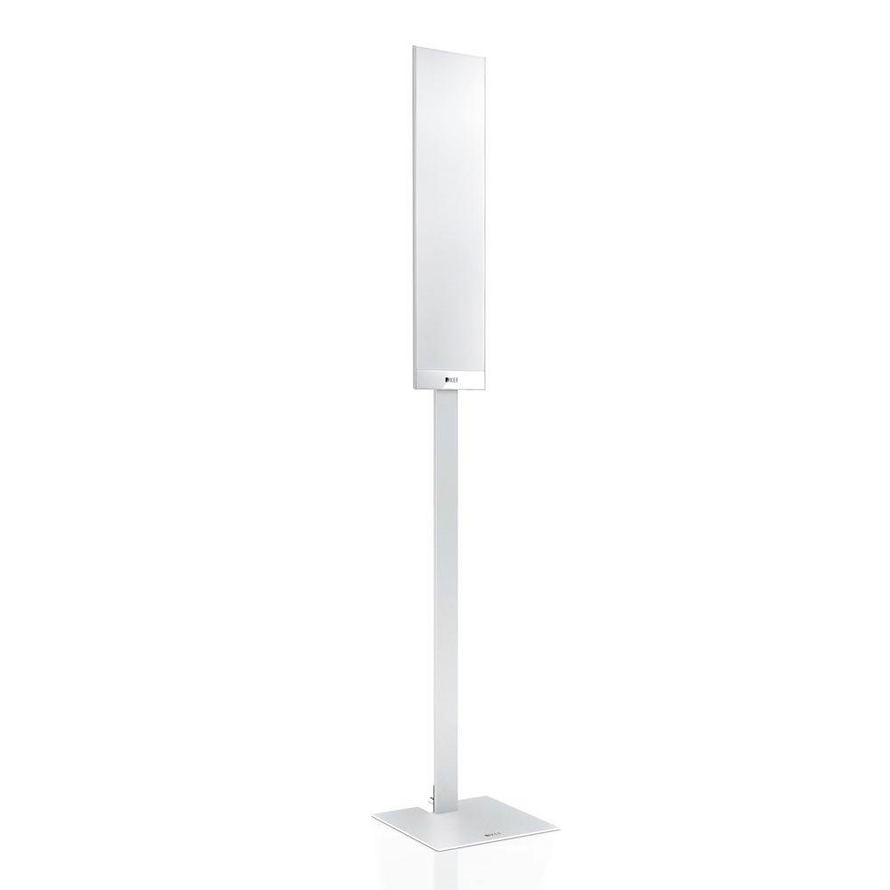 KEF TFLSTWH T-Series Floor Stand Pair Speaker - Silver by KEF