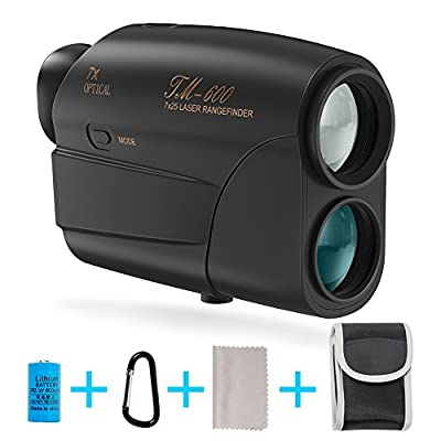 Laser Rangefinder, Fnova Hunting Range Finder Ranging 5-600 Yards, +/- 1 Yd Accuracy, 7X Magnification Lens with Distance and Speed Mode for Golf,Racing,Archery,Survey, Laser Distance Meter from Fnova