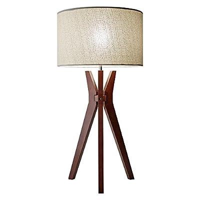Adesso Titan Real Wood Tall Shelf Floor Lamp
