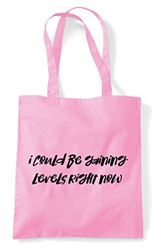 Gaining Now Shopper Right Levels Could Be Light Pink Bag Gamer I Gaming Statement Tote FPnqEXcXWx