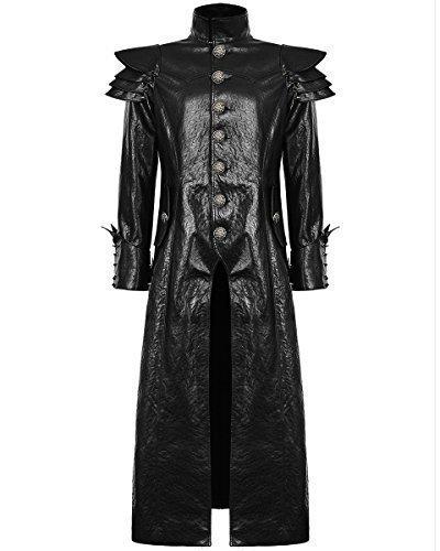 Punk Rave para hombre funda de piel sintética abrigo chaqueta color negro fangbanger Steampunk Dieselpunk negro negro XXXX-Large: Amazon.es: Ropa y ...