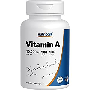Nutricost Vitamin A 10,000 IU, 500 Soft Gel Caps