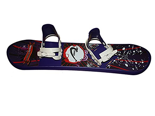 Black Dragon Kids Plastic Snowboard with Bindings 95cm New
