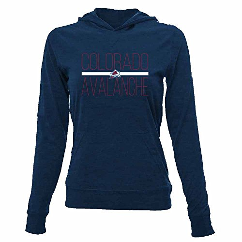 NHL Colorado Avalanche Women's Recovery Line Em Up Pullover Hooded Mid-Layer Apparel, Medium, Solid Navy