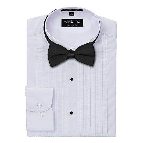Pique Tuxedo Shirts (Men's Tuxedo Shirt and Bow Tie Set - Wing Collar - Large)