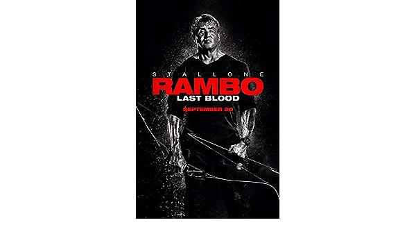 Rambo Last Blood movie gloss poster 17x 24 2019