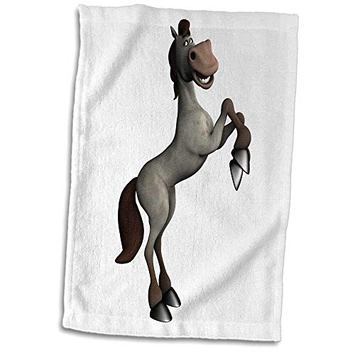 Symple Stuff Menke Horse Standing on Two Legs and Looking Silly Hand Towel from Symple Stuff