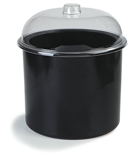 Carlisle CM101203 Coldmaster Insulated Ice Cream Server with Lid, 3 Gallon Capacity, Black Carlisle Lid