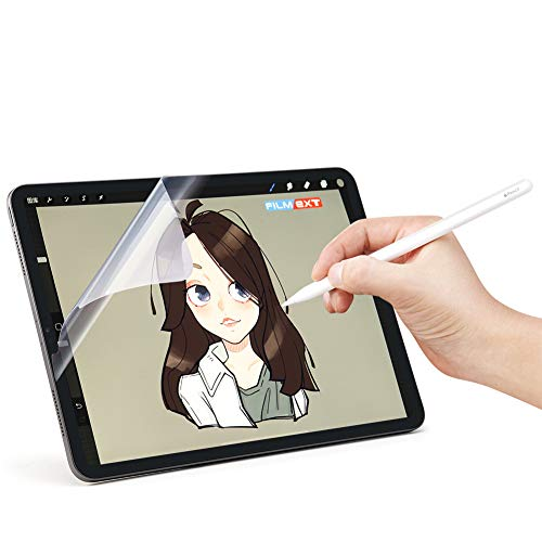 ([2 Pack] New iPad Pro 12.9 inch PET Paperlike Screen Protector [Anti-Glare] [Anti-Scratch] Same Like Writing On Paper [Apple Pencil Compatible] [Paperlike Film] for Drawing Sketching on iPad Pro 12.9)