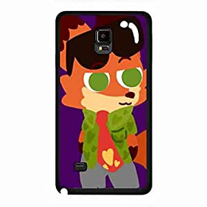 Samsung Galaxy Note 4 Funda Of Zootopia Phone Funda,Zootopia Cover Funda For Samsung Galaxy Note 4,Zootopia Phone Funda Cover Samsung Galaxy Note 4 Black Cover