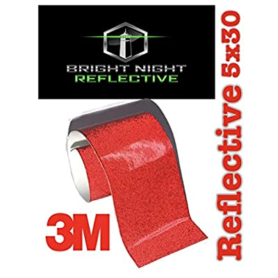 Bright Night Reflective 3M Motorcycle Helmet Safety Tape Decal Sticker Kit DYI (red, 5x30): Clothing
