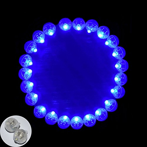 Neo LOONS 100pcs/lot 100 X Blue Round Led Flash Ball Lamp Balloon Light long standby time for Paper Lantern Balloon Light Party Wedding Decoration - Blue Led Lamp Light