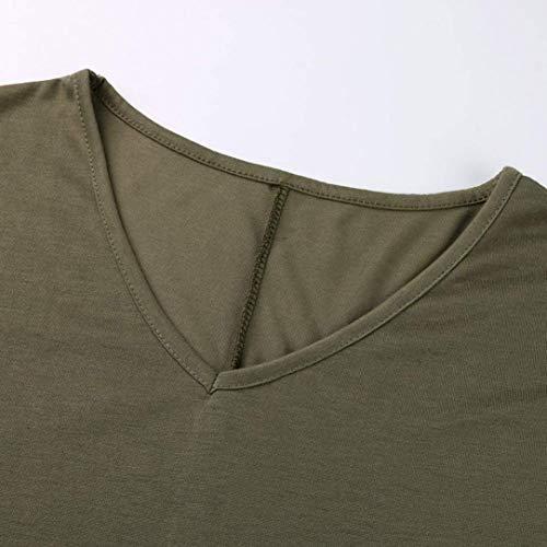Basic Casual V Cou Shirts Haut Elgante Blouse De Qualit Manches Mode Uni Et Femme Confortable Manche Haute Blouse Courtes Chemise Gr Vetement xwwq7zfvOB