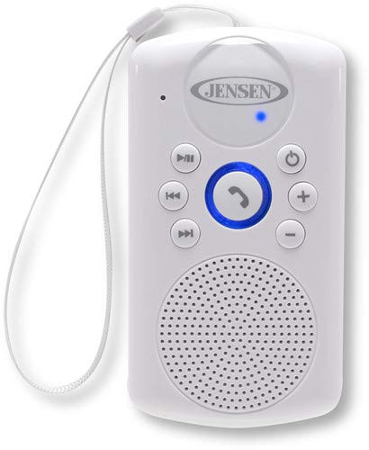 JENSEN SMPS-640 Water-Resistant Bluetooth Speaker with Hanging Strap and Rechargeable Battery
