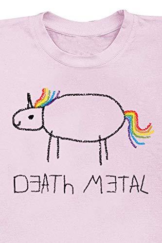 Death Metal Unicorn T-Shirt Rose Clair