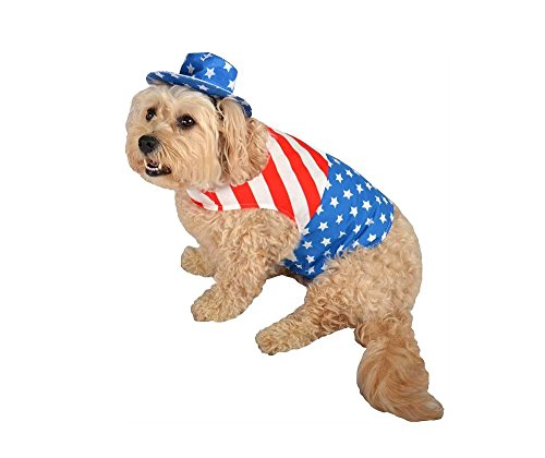 Patriot Pet Costume - With Cape and Hat