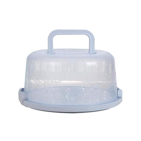 FJROnline - Caja redonda para tartas (25,4 cm, con asa),
