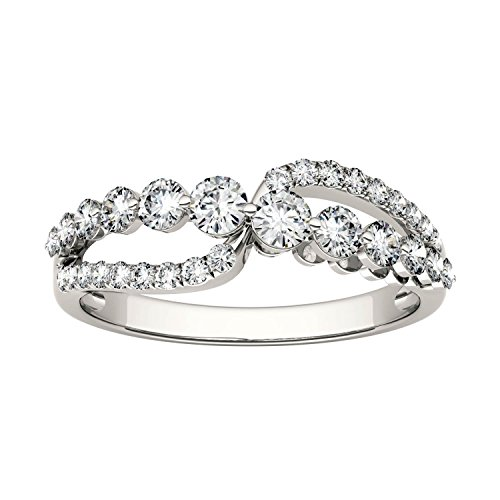 Forever Brilliant Round 3.0mm Moissanite Band Style Ring-size 7, 0.64cttw DEW By Charles & Colvard by Charles & Colvard