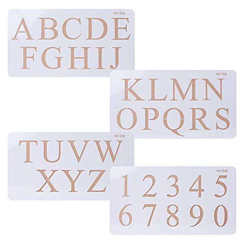 - Cake Alphabet Number Acrylic Stencils 2 Inch Times New Roman Set of Four for Cake Art Crafts Painting