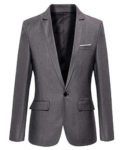Abetteric Men Business Oversize Silm Fit Leisure Suit Jacket Blazer 2 L by Abetteric