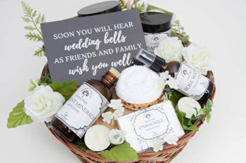 Engagement Gift Basket, Bridal Shower Gift, Bride to Be Gift, Congratulations Gift, Gift Basket for Her, Gift Basket for Women, Spa Gift, Spa Kit, Gift Set for Her, Organic Skincare Gift Basket