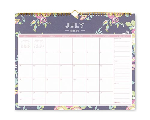 Day Designer For Blue Sky 2017 2018 Academic Year Wall Calendar  Twin Wire Bound  15  X 12   Navy Floral