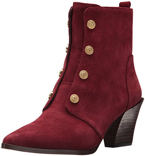 Nine West Women's Ellsworth Ankle Boot, Wine Suede, 11 Medium US