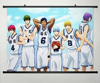Wall Scroll Poster Fabric Painting For Anime Kuroko no Basket Key Roles 090