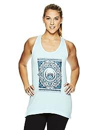 Gaiam - Playera de Yoga para Mujer con Cuello Redondo