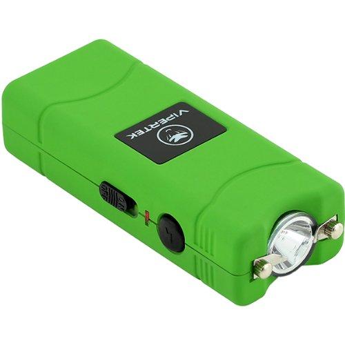 VIPERTEK VTS-881-28,000,000 V Micro Stun Gun - Rechargeable with LED Flashlight (Green)