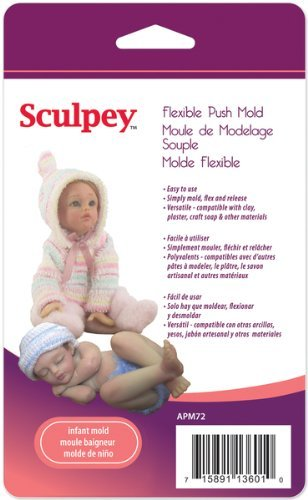 Sculpey Flexible Push Mold-Infant Doll 1 pcs sku# 737740MA Polyform