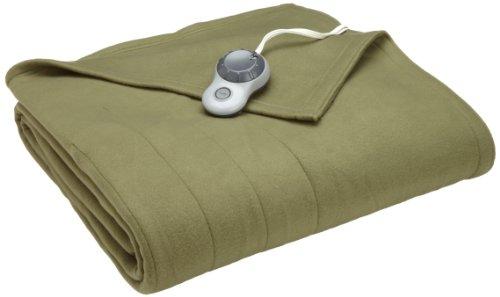(Sunbeam Heated Blanket | 10 Heat Settings, Quilted Fleece, Ivy,)