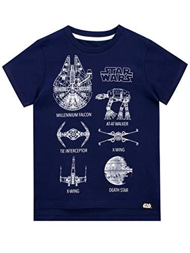 Star Wars Boys' T-Shirt Blue Size 8
