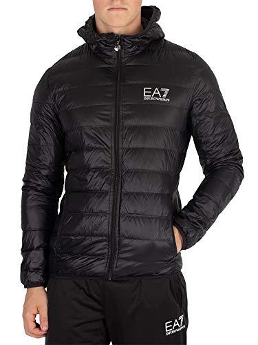 EA7 Emporio Armani Active Men's Train Core Hooded Down Jacket, Black, Medium
