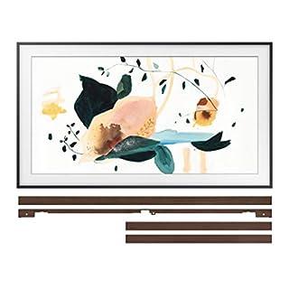 "Samsung QN50LS03TA 50"" 4K The Frame Ultra High Definition QLED Smart TV with a Samsung VG-SCFT50BW 50"" Brown Customization Bezel for The Frame TV (2020)"