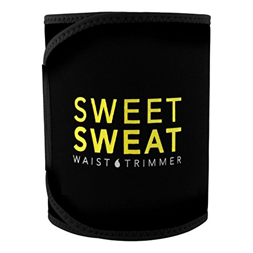 Sweet Sweat Premium Waist Trimmer, for Men & Women. Includes Free Sample of Sweet Sweat Workout Enhancer! (Large)