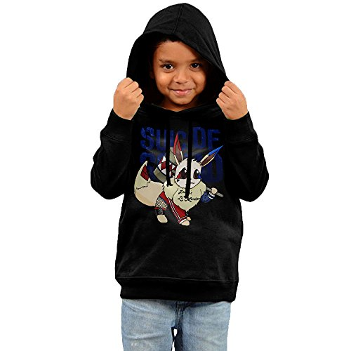 2016 Pokemon Suicide Squad Sweatshirts 90s Black Pullover Hoodie For Your Children
