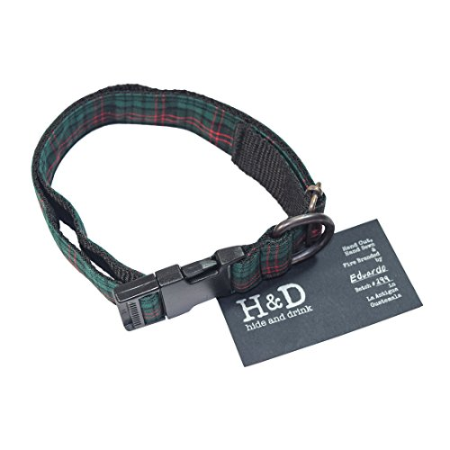 Easy Pinup Hair (Dog Collar For Small - Medium Dogs (14.5 - 24.5 Inches) Handmade by Hide & Drink :: Scottish Green)