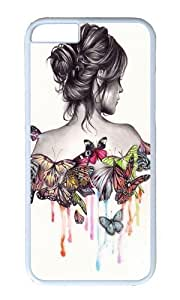Apple Iphone 6 Case,WENJORS Awesome Butterfly Effect Hard Case Protective Shell Cell Phone Cover For Apple Iphone 6 (4.7 Inch) - PC White