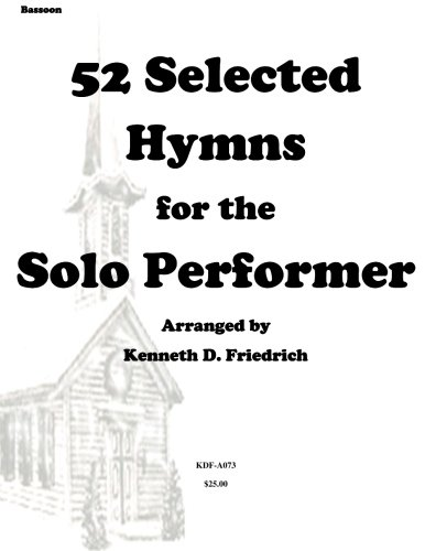 52 Selected Hymns for the Solo Performer-bassoon version