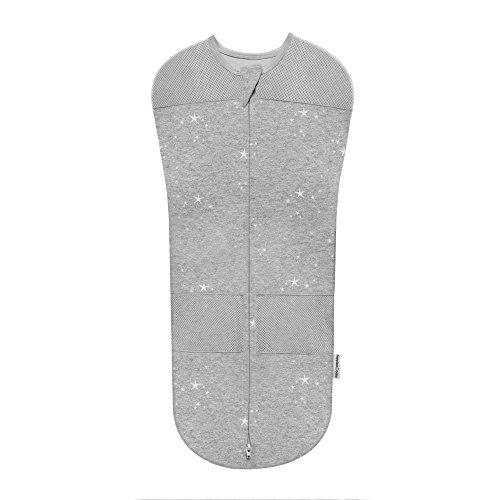 Sleepea Sack by Happiest Baby - 100% Organic Cotton (Graphite, Medium)