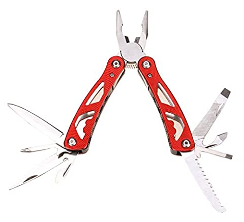 Durable Survivalist Pliers Multitool Camping Companion 13-in-1 (Red) (Swiss Army Renegade Watch)