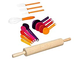 Baker\'s Secret 13 Piece Set and 1 Wood Rolling Pin