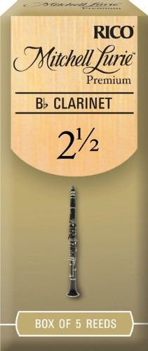 Mitchell Lurie Premium Bb Clarinet Reeds, Strength 2.5, 5-pack
